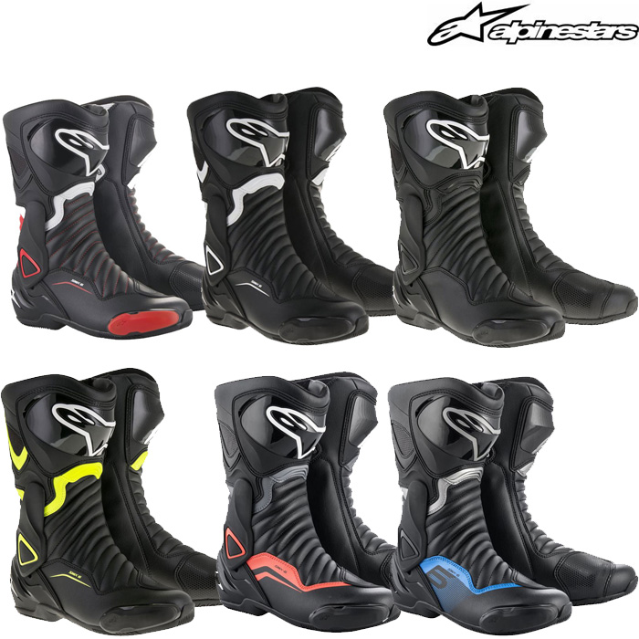alpinestars 〔WEB価格〕SMX-6 V2 BOOTS BLACK GRAY RED FLUO (1130) ◆全6色◆
