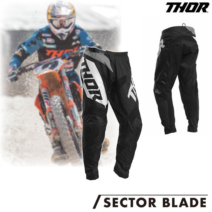 THOR SECTOR BLADE MXパンツ ブラック/ホワイト◆全4色◆ ブラック/ホワイト