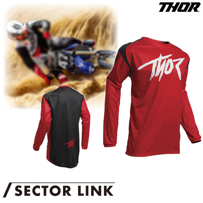 THOR SECTOR LINK ジャージ レッド◆全6色◆