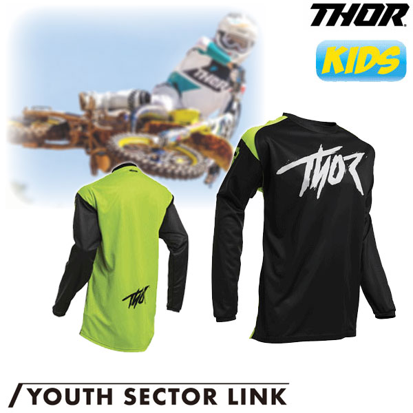THOR 〔WEB価格〕【ユース】YOUTH SECTOR LINK MXジャージ アシッド◆全5色◆