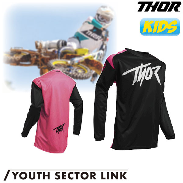THOR 〔WEB価格〕【ユース】YOUTH SECTOR LINK MXジャージ ピンク◆全5色◆