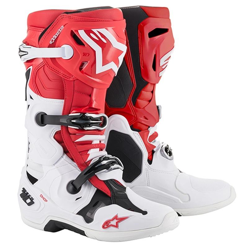 alpinestars 〔WEB価格〕TECH10 ブーツ レッド/ホワイト/ブラック ◆全5色◆