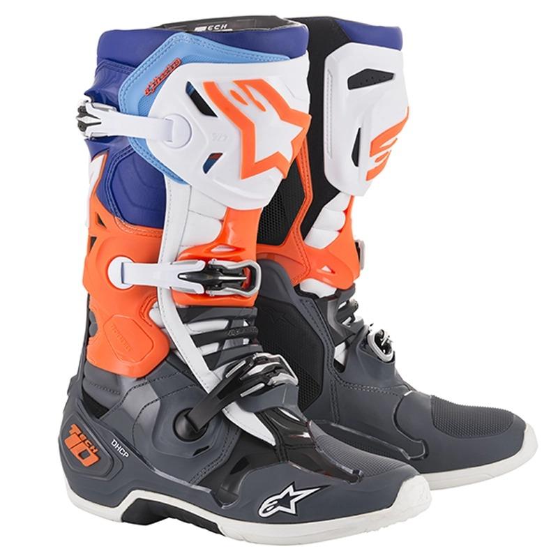 alpinestars 〔WEB価格〕TECH10 ブーツ クールグレー/オレンジ/ブルー/ホワイト ◆全5色◆