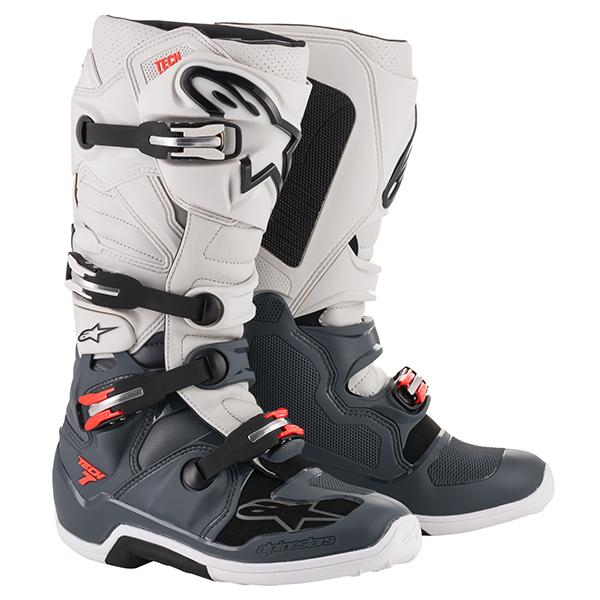 alpinestars 〔WEB価格〕 TECH7 ブーツ ダークグレー/ライトグレー/レッドフロー ◆全6色◆