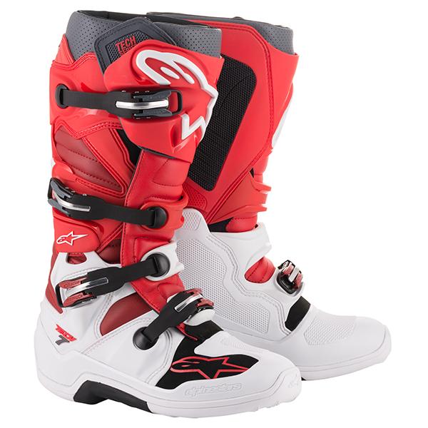 alpinestars 〔WEB価格〕 TECH7 ブーツ ホワイト/レッド/バーガンディ ◆全6色◆