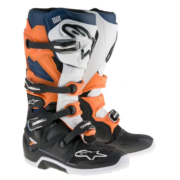 alpinestars 〔WEB価格〕 TECH7 ブーツ ブラック/オレンジ/ホワイト/ブルー ◆全6色◆