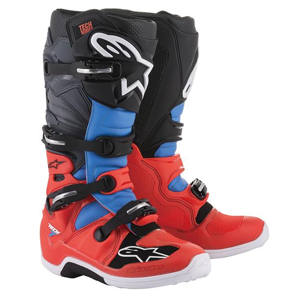 alpinestars 〔WEB価格〕 TECH7 ブーツ レッドフロー/シアン/グレー/ブラック ◆全6色◆