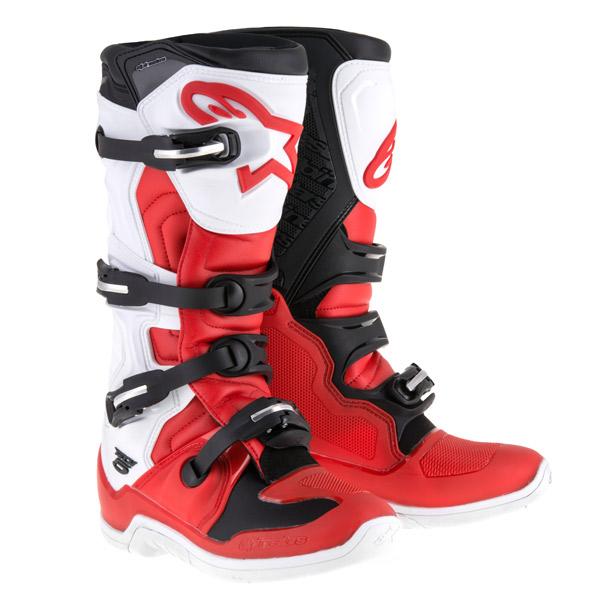 alpinestars 〔WEB価格〕TECH 5 ブーツ レッド/ホワイト/ブラック ◆全5色◆