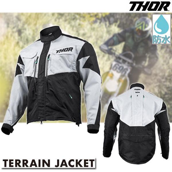 THOR 〔メーカー在庫限り〕TERRAIN ジャケット ライトグレー/ブラック◆全2色◆