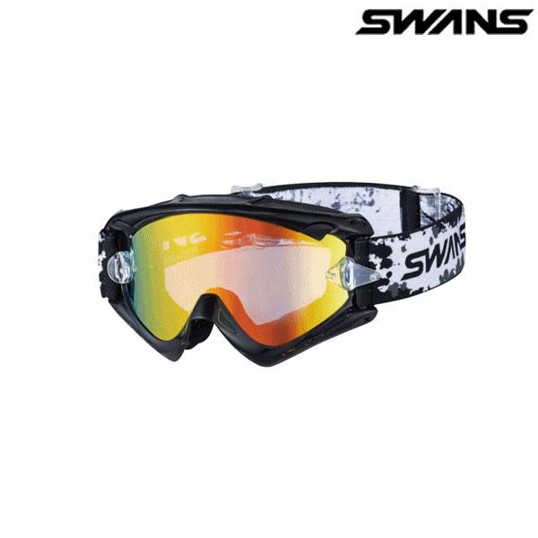 SWANS MX-RUSH-M ブラック(フラッシュオレンジミラー×スモーク)