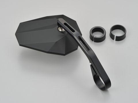 DAYTONA 15140 HIGHSIDER バーエンドミラー ステルス X6 マットブラック