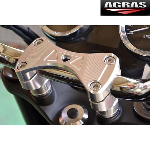 AGRAS ハンドルポスト アッパーブラケットブリッジタイプ Z900RS