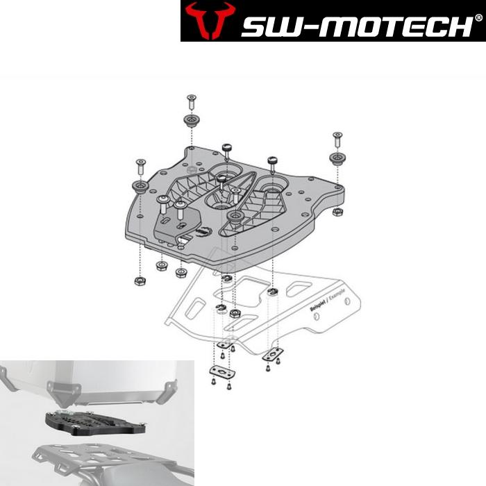 SW-MOTECH ALU-RACK用QUICK-LOCKアダプタープレート(TRAX用)  GPT00152400