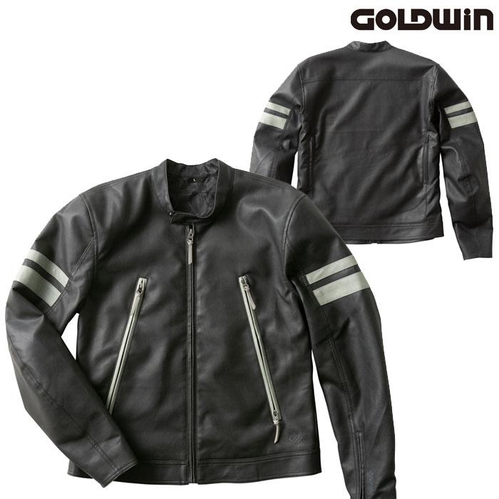 GOLDWIN GSM22003 シンセティックレザージャケットブラック(K)◆全4色◆
