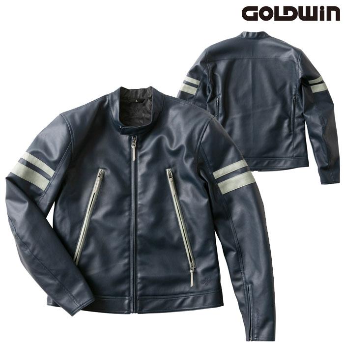 GOLDWIN GSM22003 シンセティックレザージャケットネービー(N)◆全4色◆