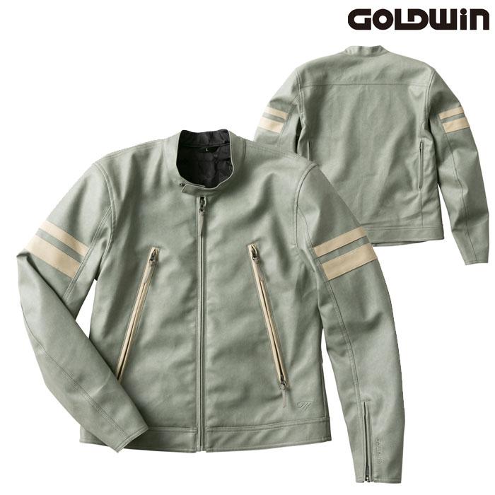 GOLDWIN GSM22003 シンセティックレザージャケットセージ(SA)◆全4色◆