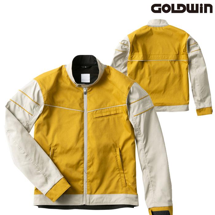GOLDWIN GSM22004 ライトサマージャケット キャメル×ストーングレー(CS)