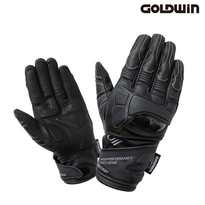 GOLDWIN 〔WEB価格〕★新作★GSM26001 リアルライドプロテクションレザーグローブ ブラック(K)◆全2色◆