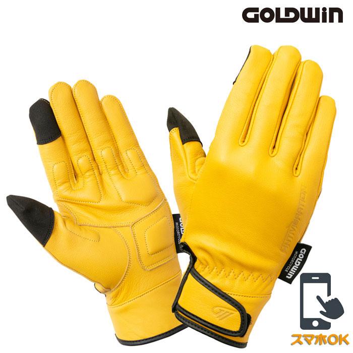 GOLDWIN GSM26003 アンチバイブレーションレザーグローブ キャメル(CA)◆全2色◆