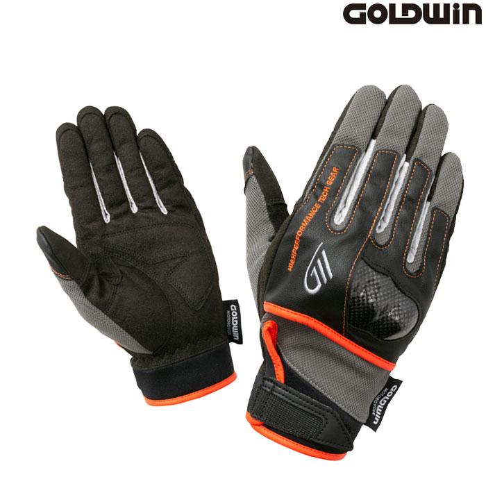 GOLDWIN 〔WEB価格〕GSM26011 ロードメッシュプロテクショングローブ ガンメタル×オレンジ(GO)◆全5色◆