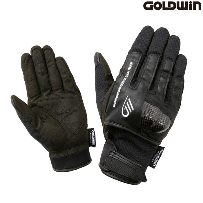 GOLDWIN 〔WEB価格〕★新作★GSM26011 ロードメッシュプロテクショングローブ ブラック(K)◆全5色◆