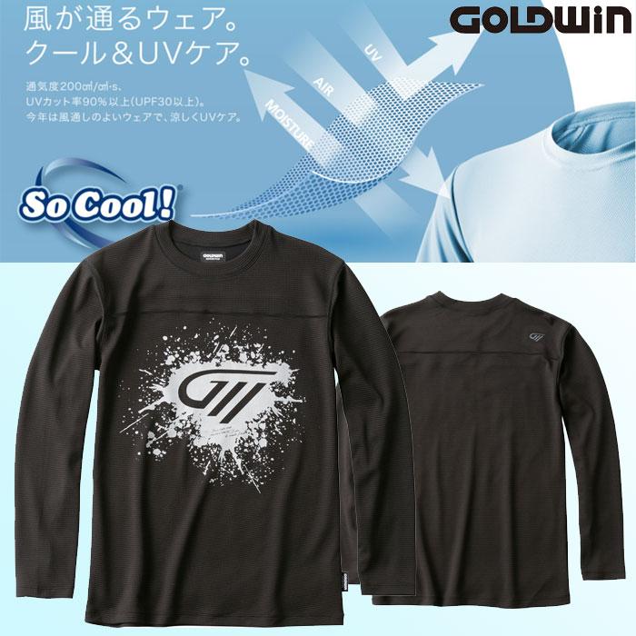 GOLDWIN GSM24004 So Cool ロングTシャツGSM24004ブラック(K)◆全3色◆