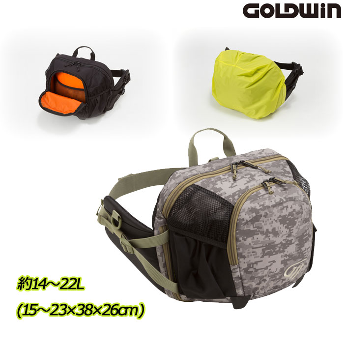GOLDWIN 〔WEB価格〕GSM27012 X-OVER ヒップバック 22 デジタルデザート(DD)◆全3色◆