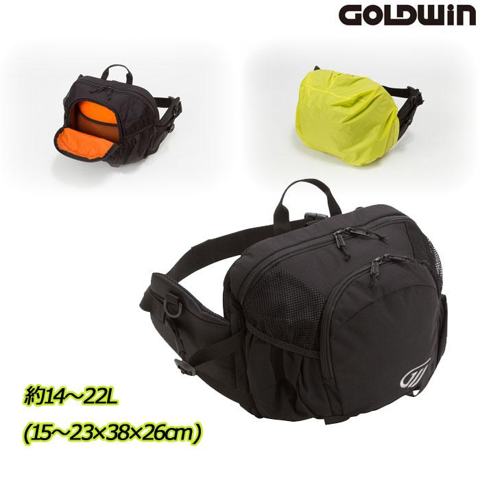 GOLDWIN 〔WEB価格〕GSM27012 X-OVER ヒップバック 22 ブラック(K)◆全3色◆