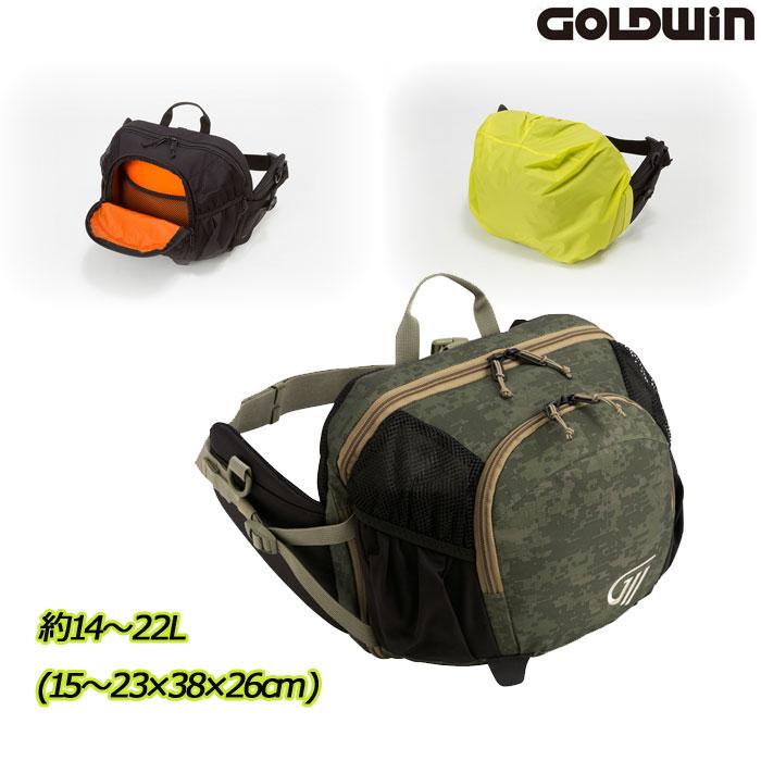 GOLDWIN 〔WEB価格〕GSM27012 X-OVER ヒップバック 22 オリーブドラブ(OD)◆全3色◆