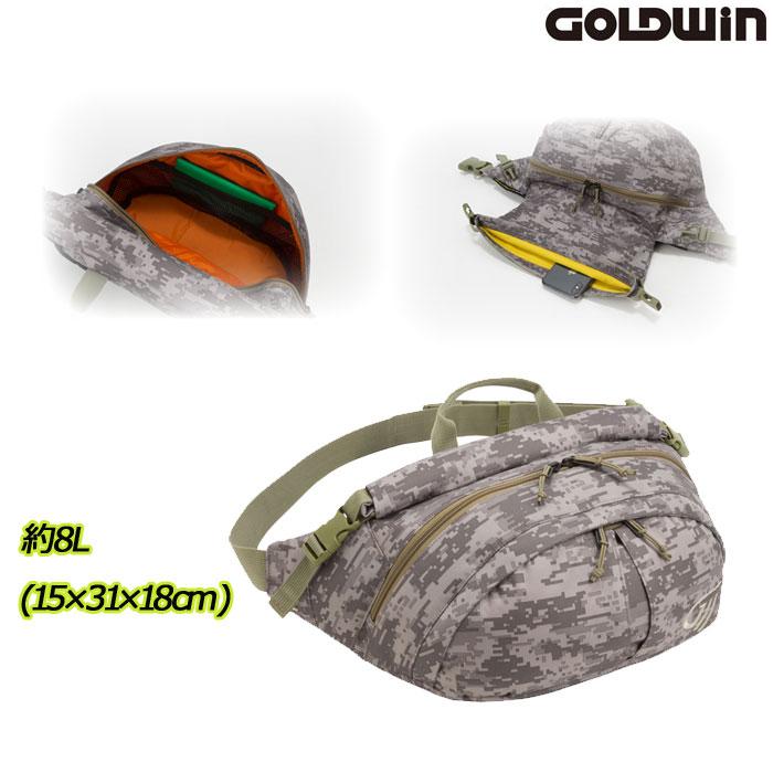 GOLDWIN 〔WEB価格〕GSM27013 X-OVER ウエストバッグL デジタルデザート(DD)◆全2色◆