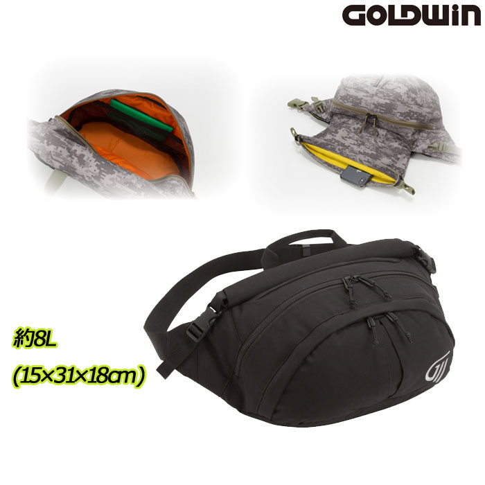 GOLDWIN 〔WEB価格〕GSM27013 X-OVER ウエストバッグL ブラック(K)◆全2色◆