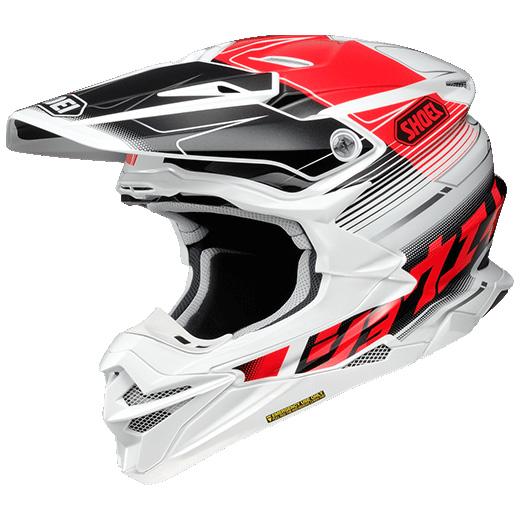 SHOEI ヘルメット (個別配送のみ 他商品との同梱配送不可)VFX-WR ZINGER 【ブイエフエックス-ダブルアール ジンジャー】 オフロードヘルメット TC-1 (RED/WHITE)