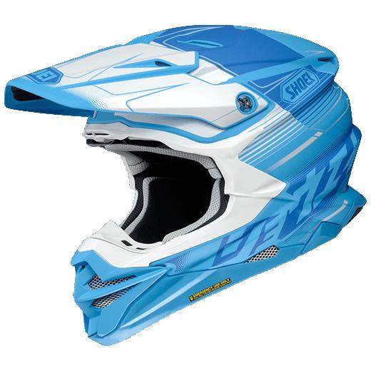 SHOEI ヘルメット (個別配送のみ 他商品との同梱配送不可)VFX-WR ZINGER 【ブイエフエックス-ダブルアール ジンジャー】 オフロードヘルメット TC-2 (BLUE/WHITE) マットカラー