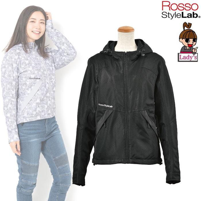 J-AMBLE (レディース) ROJ-89 フーデッドメッシュジャケット BLACK ◆全3色◆