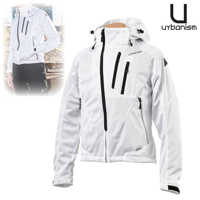 J-AMBLE 〔WEB価格〕 UNJ-079 フードメッシュジャケット WHITE ◆全4色◆
