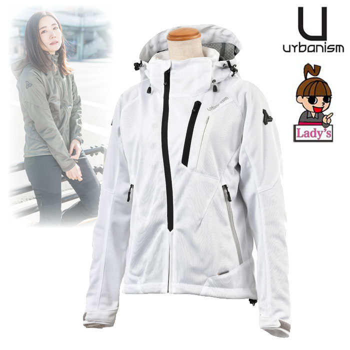 J-AMBLE 〔WEB価格〕★新作★【レディース】 UNJ-079W フードメッシュジャケット WHITE ◆全3色◆
