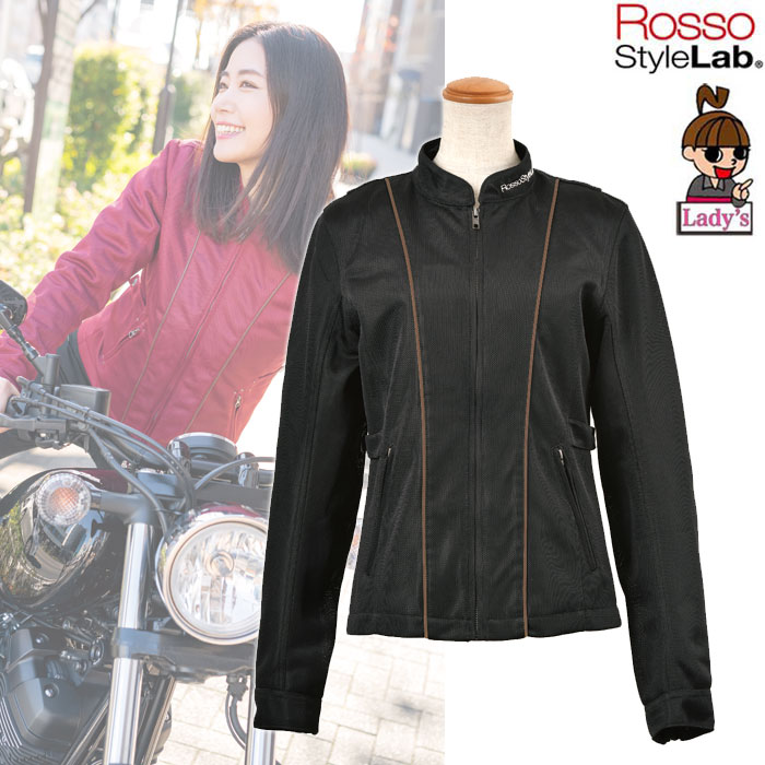 J-AMBLE (レディース) 防風インナー付スタイルアップメッシュジャケット BLACK ◆全4色◆