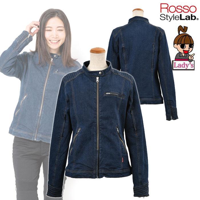 J-AMBLE 〔WEB価格〕(レディース)ROJ-91 デニムライダースジャケット ONE WASH ◆全3色◆