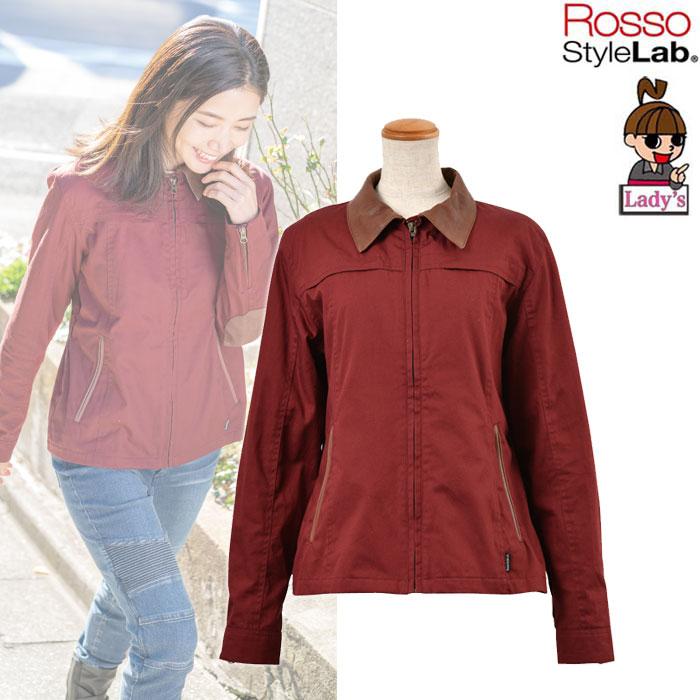 J-AMBLE (レディース) ミニヘリンボーンレザーカラージャケット RED ◆全3色◆