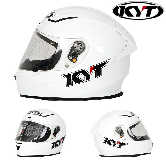 KYT 〔WEB価格〕【KR-1】WHITE SOLID ホワイトソリッド フルフェイスヘルメット