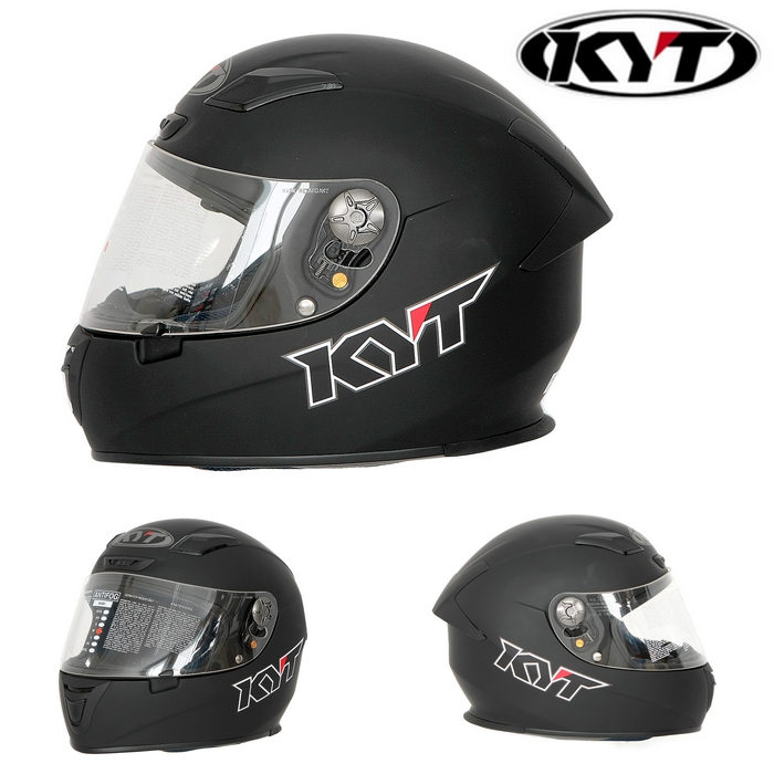 KYT 【KR-1】KR-1 BLACK MATT マットブラック フルフェイスヘルメット