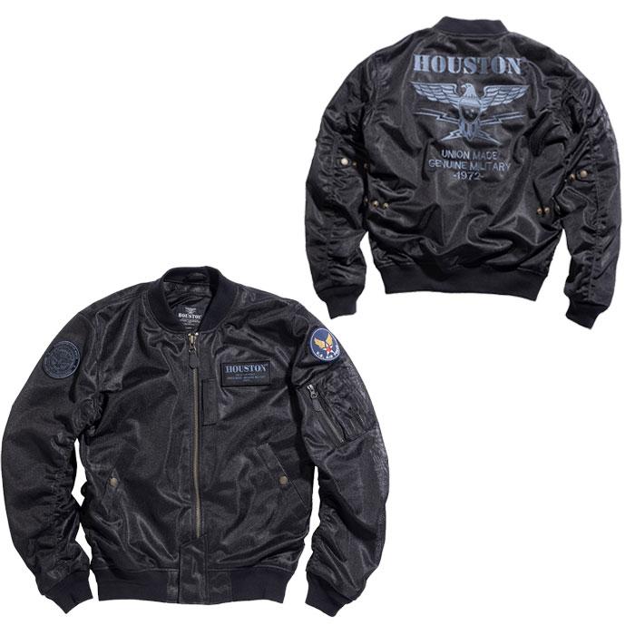 HOUSTON HTVA2011S MA-1 MESH M/C ジャケット ブラック ◆全4色◆