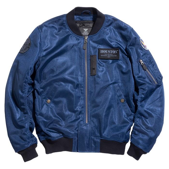 HOUSTON HTVA2011S MA-1 MESH M/C ジャケット ネイビー ◆全4色◆