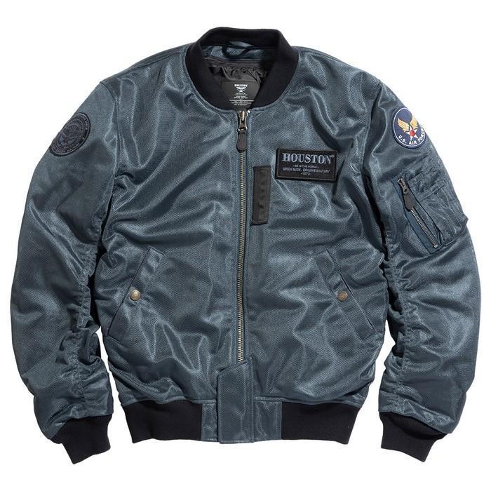 HOUSTON HTVA2011S MA-1 MESH M/C ジャケット ガンメタ ◆全4色◆