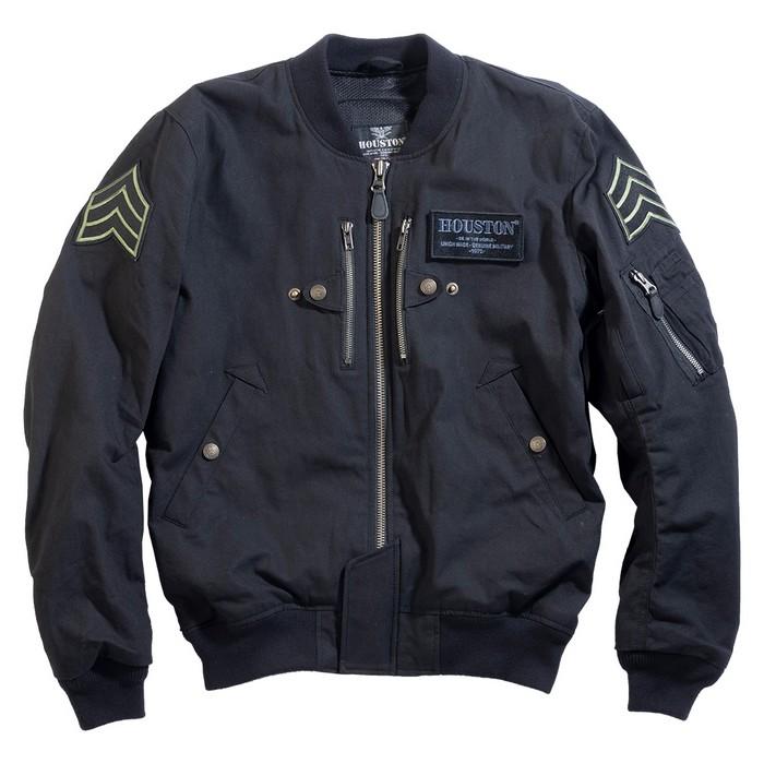 HOUSTON HTVA2012S MA-1 COTTON M/C ジャケット ブラック◆全4色◆