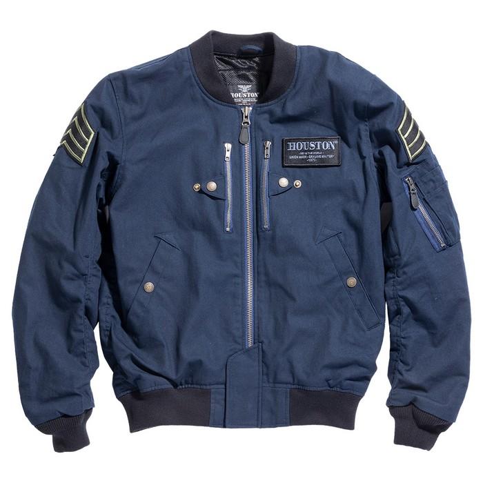 HOUSTON HTVA2012S MA-1 COTTON M/C ジャケット ネイビー◆全4色◆
