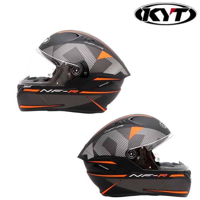 KYT 〔WEB価格〕【NF-R】LOGOS MATT ORANGE ロゴマットオレンジ フルフェイスヘルメット