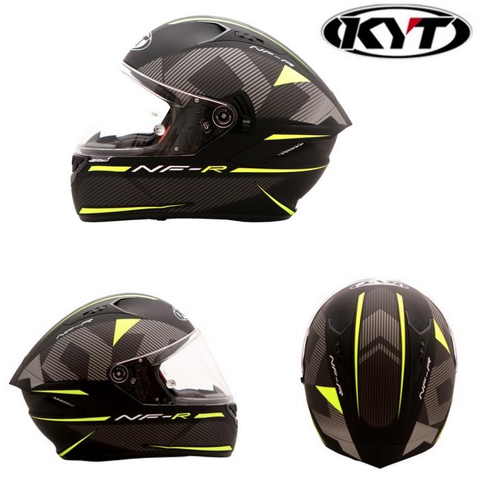 KYT 【NF-R】LOGOS MATT YELLOW ロゴマットイエロー フルフェイスヘルメット