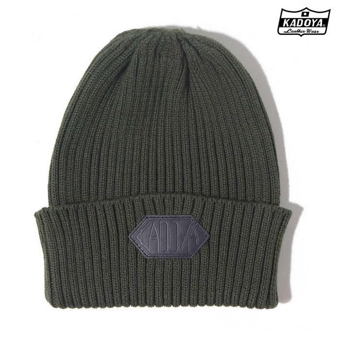 KADOYA 8896 ST-COTTON KINT CAP ニット帽 カーキ ◆全3色◆