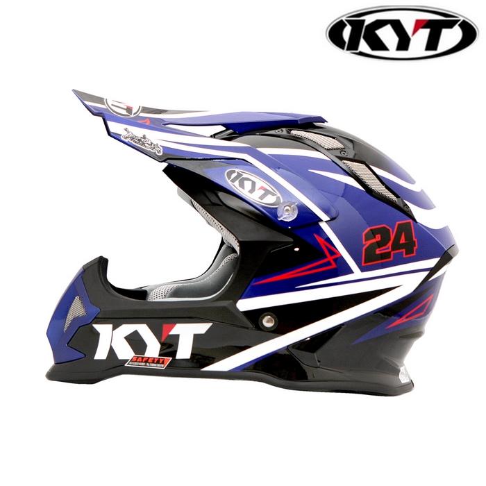 KYT 【STRIKE EAGLE】シンプソンレプリカ ブルー グラフィックモデル オフロードヘルメット